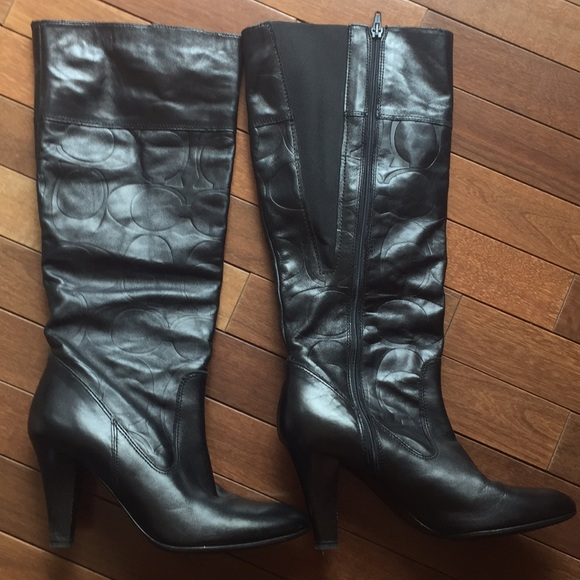 04f8c042a8c Coach Millie signature embossed boots